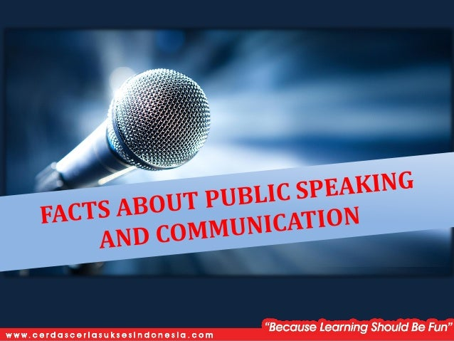 According to most studies, people's number one fear is PUBLIC SPEAKING Number two is death