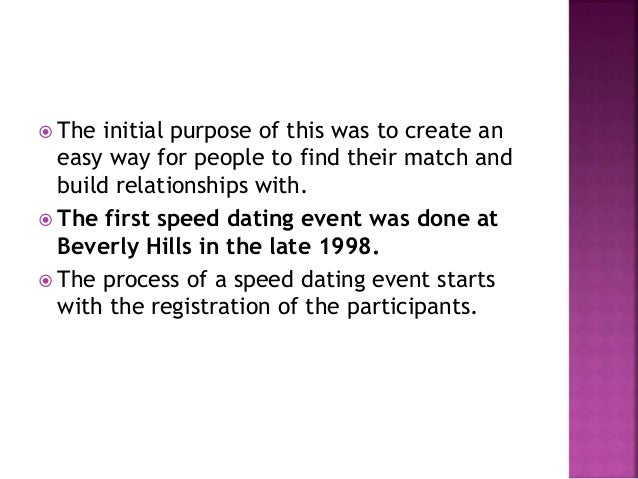 speed dating interesting facts New research reveals the chances of mating and relating after a speed dating speed dating: is it worth your time interesting article and study overall.