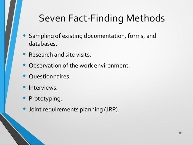 fact finding for a database system The fact finding officer and team for fact finding no 27 respectfully present  this  inspection in an automated tariff system  complaints • upgrade the  commission's on-line oti database to include a search engine to.