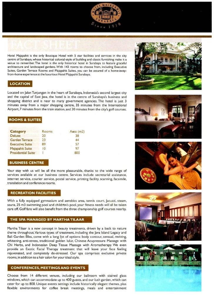 Hotel Majapahit Fact Sheet