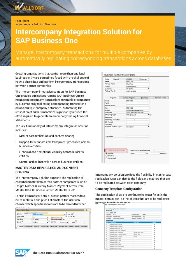 fact sheet intercompany solution overview intercompany solution for