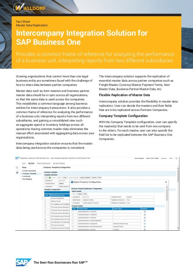 fact sheet master data replication intercompany solution for sap