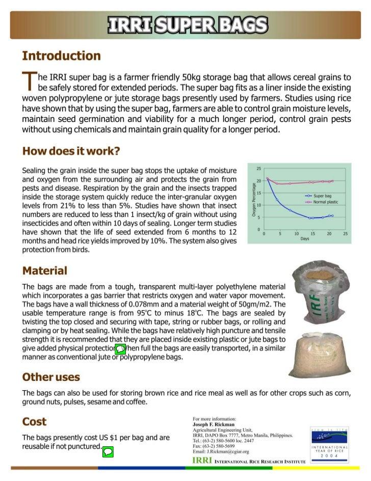 Fact Sheet - Super Grain Bags - Detailed Information