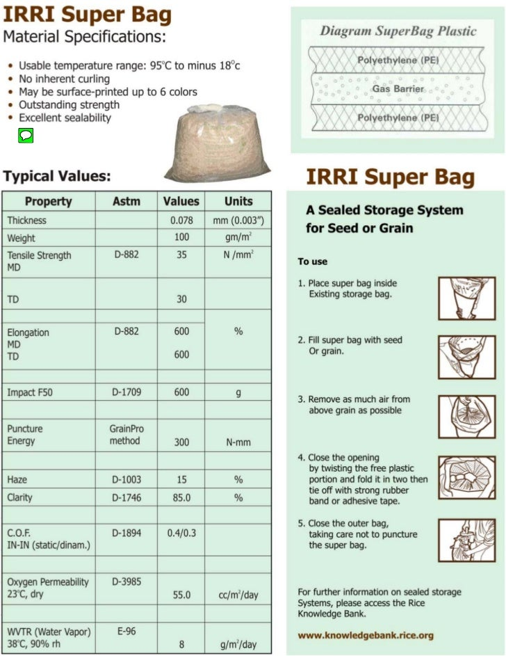 Fact Sheet - Super Grain Bags Specifications