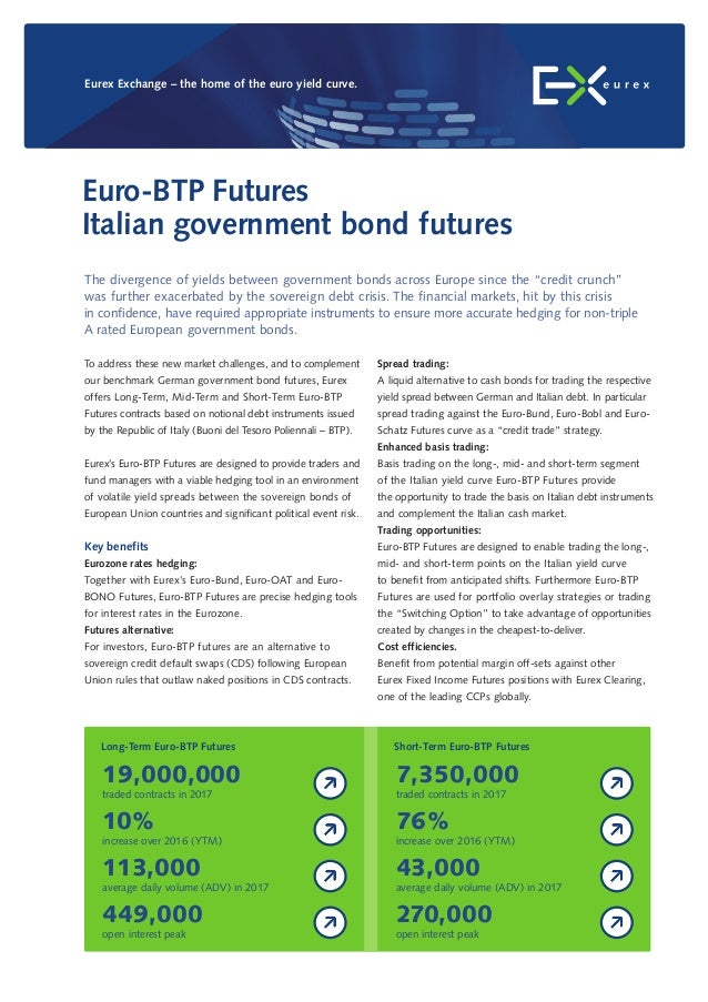 Spread trading: A liquid alternative to cash bonds for trading the respective yield spread between German and Italian debt...