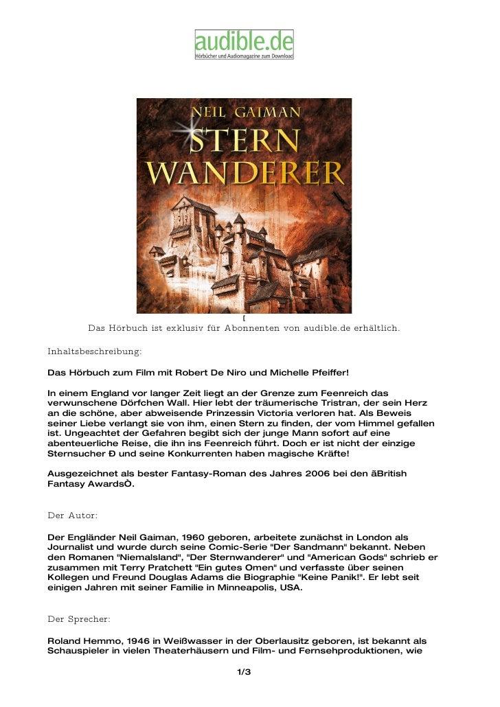 [         Das Hörbuch ist exklusiv für Abonnenten von audible.de erhältlich.  Inhaltsbeschreibung:  Das Hörbuch zum Film m...