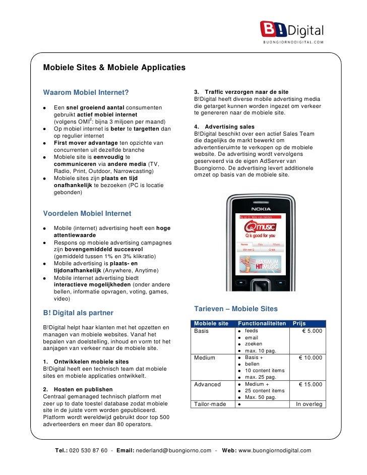 Mobiele Sites & Mobiele Applicaties   Waarom Mobiel Internet?                            3. Traffic verzorgen naar de site...