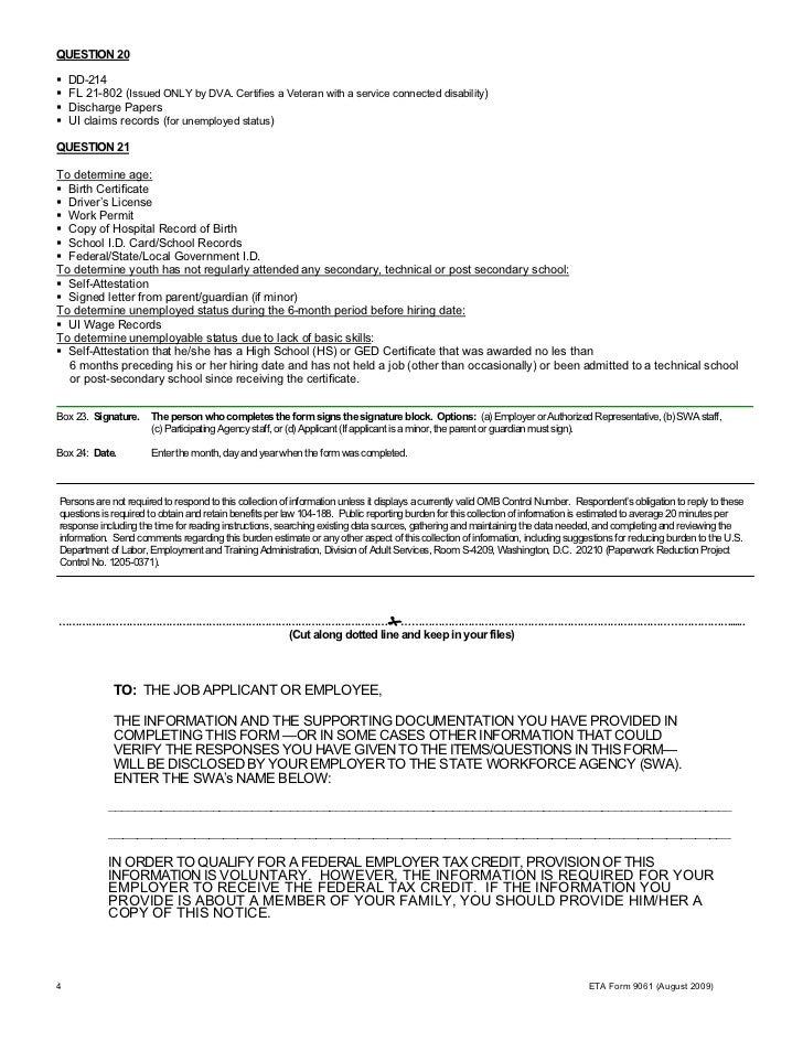 Fact sheet on veteran tax credits