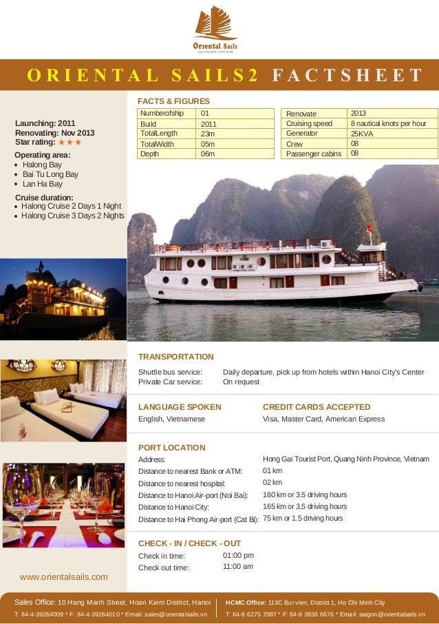 www.orientalsails.com Sales Office: 10 Hang Manh Street, Hoan Kiem District, Hanoi T: 84-4-39264009 * F: 84-4-39264010 * E...