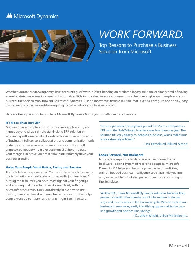 WORK FORWARD.                                                                     Top Reasons to Purchase a Business      ...