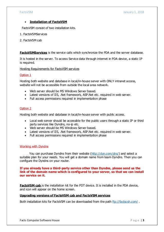 FactsVSM - Vansales Module