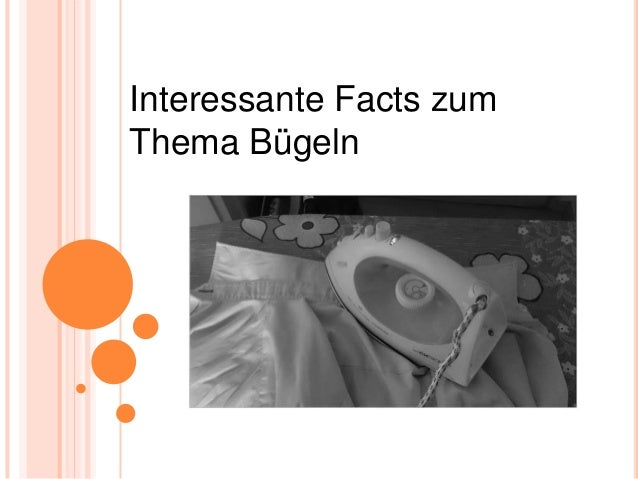 Interessante Facts zum Thema Bügeln