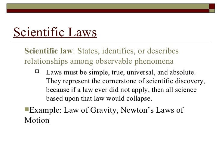 what is the relationship between hypothesis theory and law