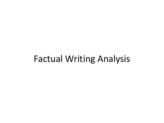 Factual Writing Analysis