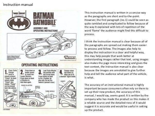 Instructional Manual | Factual Writing Guide Analysis