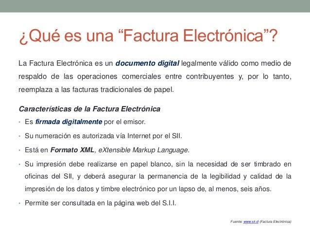factura electrónica servicio de impuestos internos chile