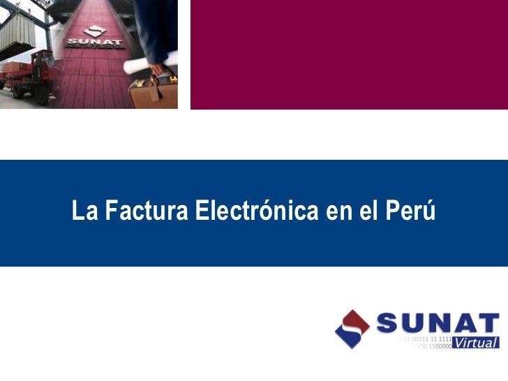 La Factura Electrónica en el Perú