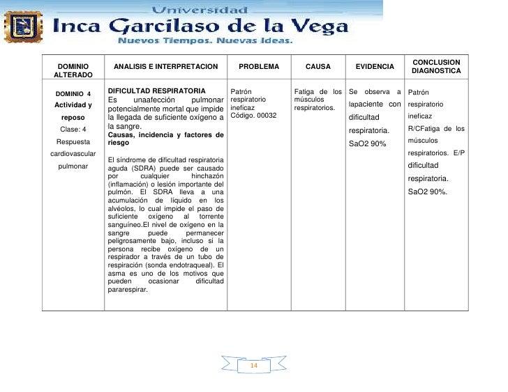 CONCLUSION DOMINIO          ANALISIS E INTERPRETACION               PROBLEMA      CAUSA         EVIDENCIA                 ...