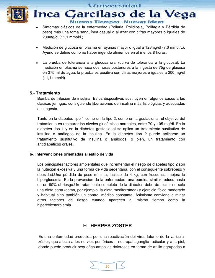 Síntomas clásicos de la enfermedad (Poliuria, Polidipsia, Polifagia y Pérdida de       peso) más una toma sanguínea casual...