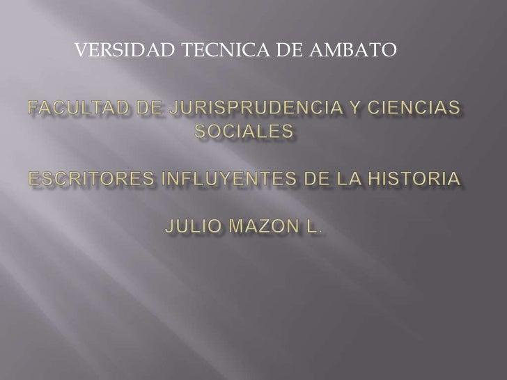 VERSIDAD TECNICA DE AMBATO