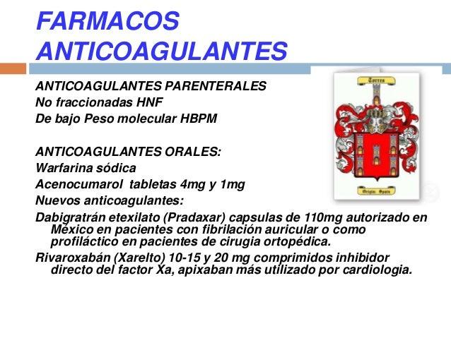 Conferencia Medicamentos Antiagregantes y Anticoagulantes.
