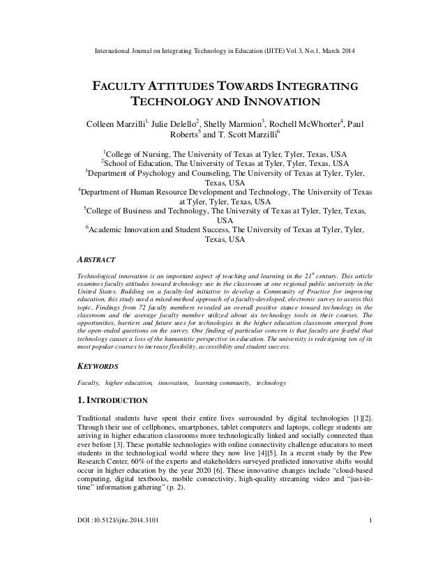 International Journal on Integrating Technology in Education (IJITE) Vol.3, No.1, March 2014 DOI :10.5121/ijite.2014.3101 ...