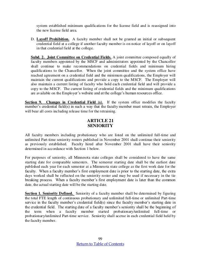 Minnesota Faculty Teaching Contract mscf final 2013_2015