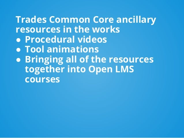 Maybe these elements are best located within content pages of an open LMS courses? This gives us an opportunity to incorpo...