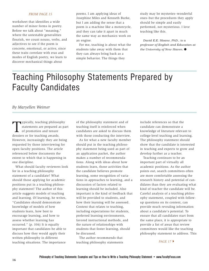 philosophy of special education paper