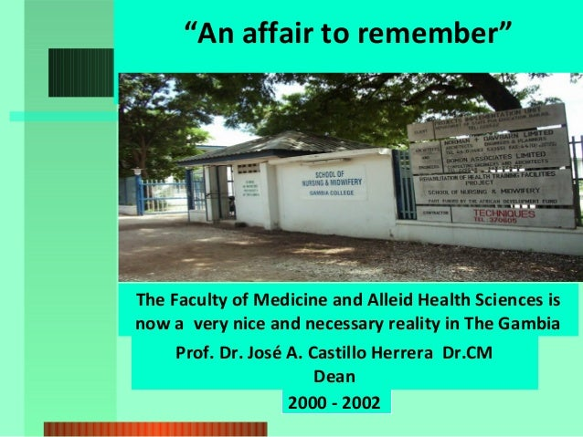 """""""An affair to remember""""  The Faculty of Medicine and Alleid Health Sciences is now a very nice and necessary reality in Th..."""