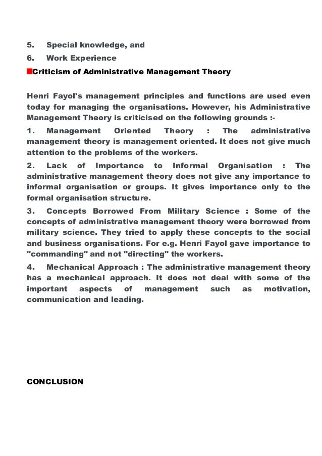 the relevance of henri fayols four management functions essay Management proposed by fayol essay the usefulness of henri fayol's classical functions have come under question about their relevance in current managerial activities by a number of professionals the relevance of henri fayol's four management functions.