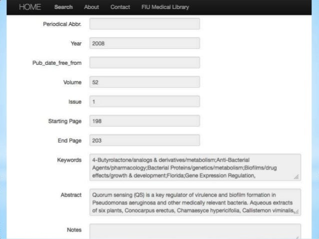 Building a Faculty Publications Database