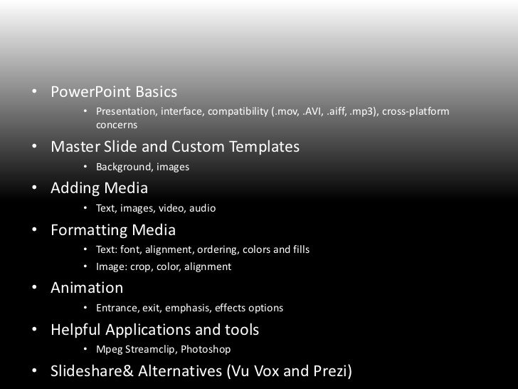PowerPoint WorkshopInstitute for Multimedia Literacy<br />PowerPoint Basics<br />Presentation, interface, compatibility (....