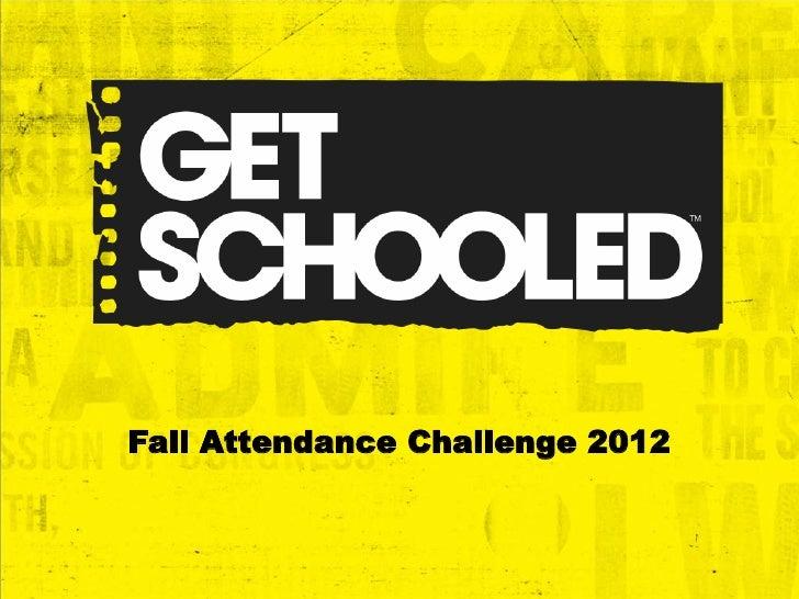 Fall Attendance Challenge 2012