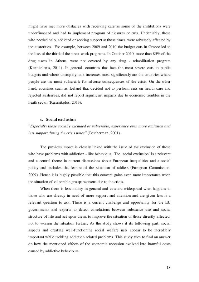 bachelor thesis financial crisis Innovative strategies in response to financial crisis this chapter can be seen as an introductory part of this bachelor thesis, since this chapter introduces the topic of this thesis.