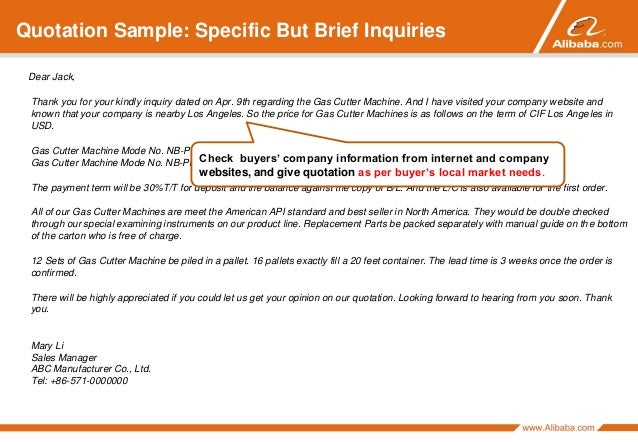 To Respond To Buyer Inquiries Alibaba