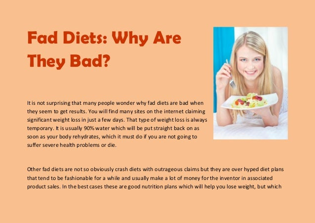 how fad diets are unhealthy