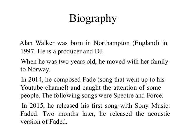 Alan walker faded notes