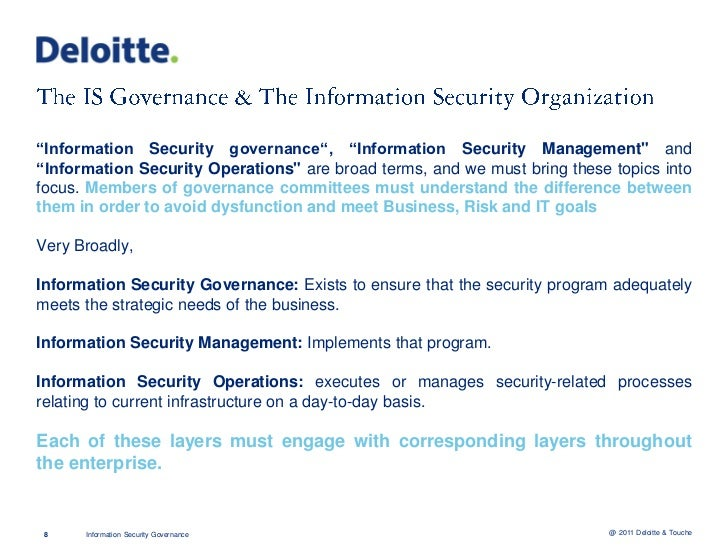 Prudent CISOs are building their Security Governance Strategies based on the currenteconomic climate, changes in the techn...