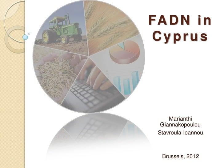 FA D N i nCyprus     Marianthi  Giannakopoulou Stavroula Ioannou  Brussels, 2012