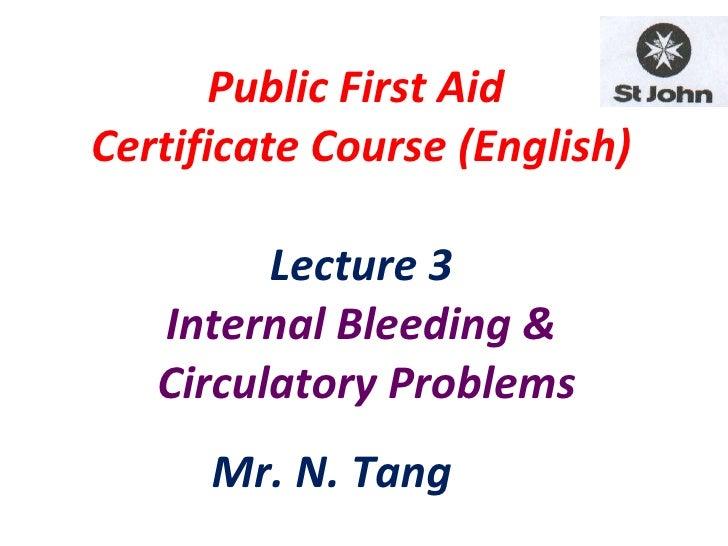 Fa (e) lecture 3 ib & cvs (9.8.10 4 days) n