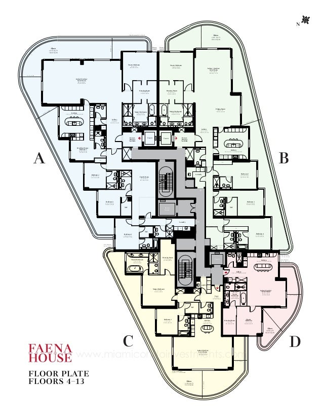 Faena house floor plans for Miami mansion floor plans