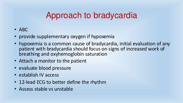 Approach to bradycardi...