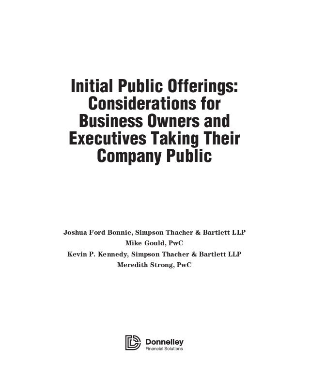 Initial public offering research papers