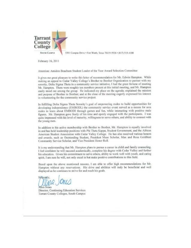 letter of rec alisa jones