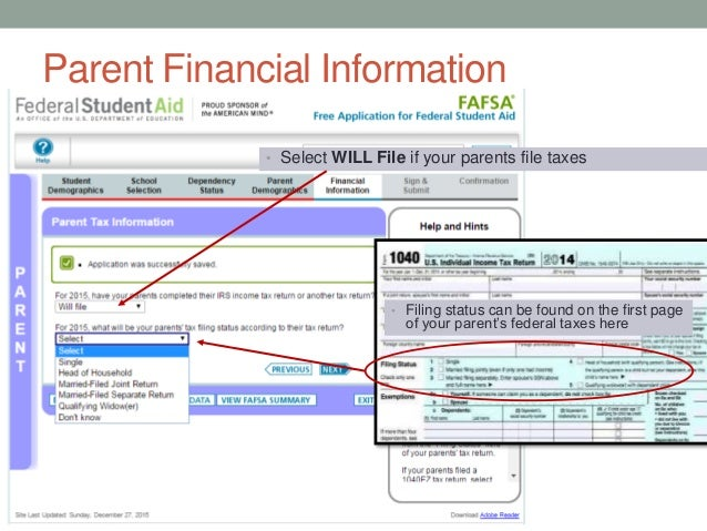 Steps To Renewing Your Fafsa Jan 2016