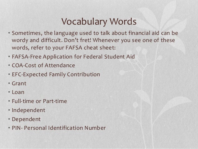 Yepnoplay fafsa workshop vocabulary ibookread Read Online