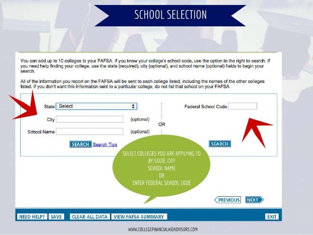 lisg. íif; íiltltll'   You can add up to 10 colleges to your FAFSA.  If you know your coIIege's school code.  use the opti...