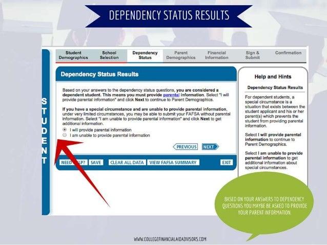 iüãtlãtilígl     4 à Student School Dependency P nt FT-liinci i SOH à'.  Corliirfhizllcñ Demographics Selection Status D m...