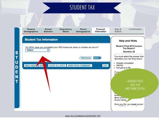 à     Parent  Student School Dependancy     , ,k Financial Síqn s.  Confummtion Information Submll  Selnctlon Status  Demo...